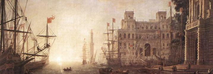 Veduta del porto e Villa Medici - Claude Lorrain